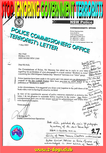 2003 NSW Police Commissioners Office Ter
