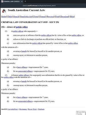 Abuse of Public Office Criminal Law Sout