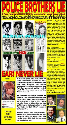 Card 1984-2018 Police Brothers Lie ears