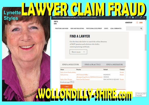 Lawyer Claim another FRAUD from Lynette