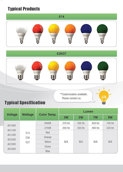7W light bulb