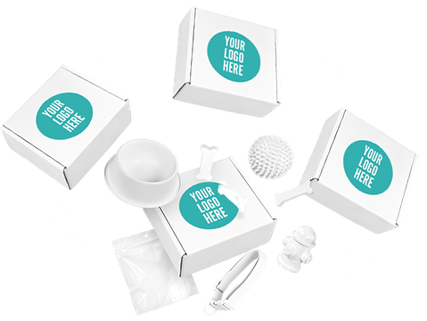 White Subscription Boxes private label with your logo