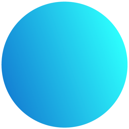blue gradiant circle