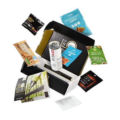 GNC sample box with health and wellness samples