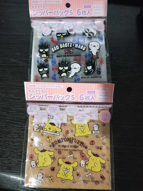 Sanrio mini storage pouches (6 in a pack)