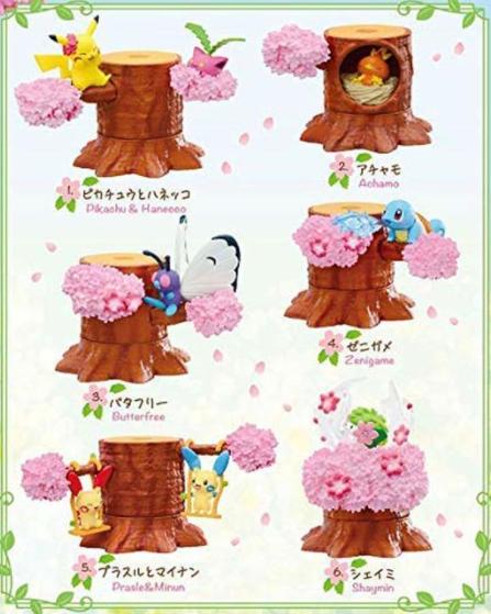 【Blinds/Re-ment】Pokemon Forest Vol. 4 Dancing Petals (single box)