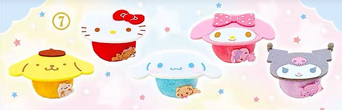 Sanrio characters mini plush table (one)