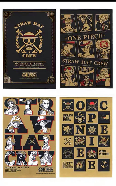 One Piece Notebook set of 4