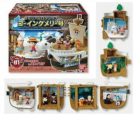 One Piece Memorial Log Ship - Going Merry ( Set of 6)