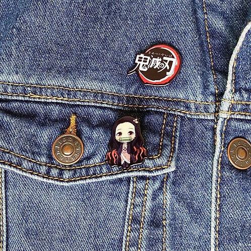 Demon Slayer Character Pin Set(Logo+Chara)