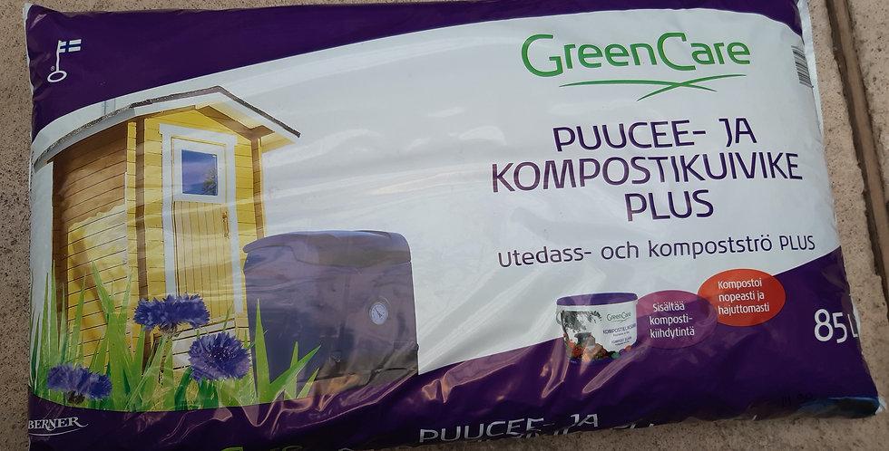 Puucee ja kompostikuivike plus 85L GreenCare