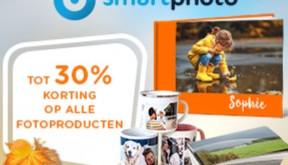 Nu tot 30% korting bij SmartPhoto