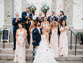 Love (and Confetti) is in the Air. Happy 1st Anniversary to Mr. & Mrs. Christian!