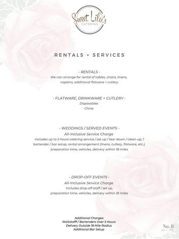 Rentals + Services