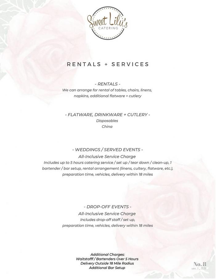 Rentals + Service