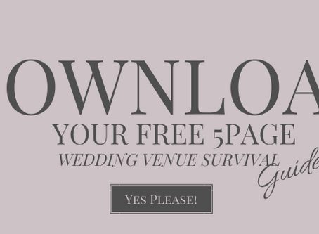Free Resource: 5-Page Wedding Venue Survival Guide Preview!