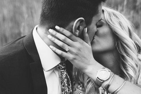 Engagement Kiss