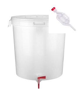 Емкость для розлива 32 л, с краном + гидрозатвор