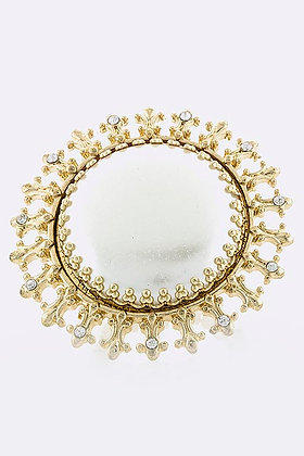 OVERSIZED FLAT PEARL RING