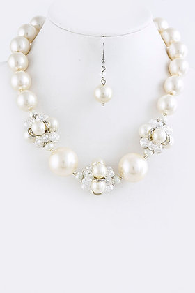 PEARL ORNAMENT NECKLACE SET