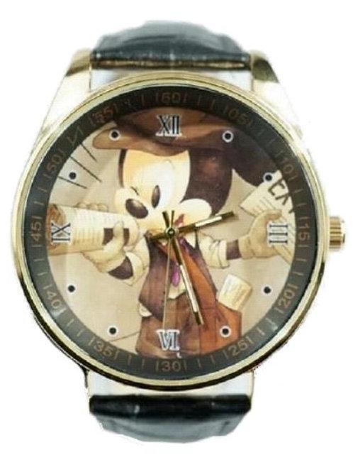 "Mickey ""Newsies"" newspaper Image Analogue Wrist Watch"
