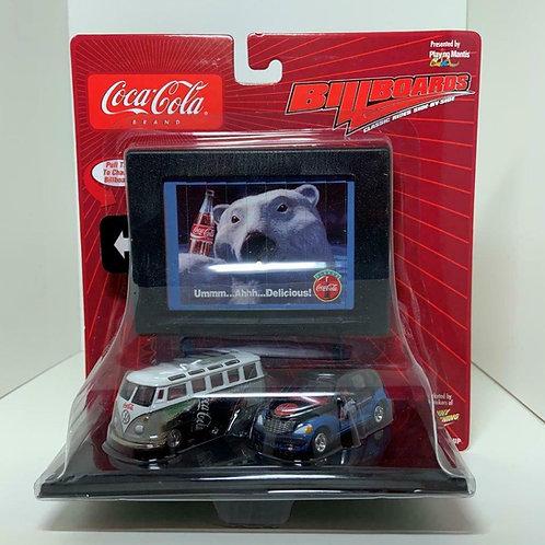 Coca-Cola cars Johnny Lightning Billboards Release Toy VW Samba Bus / PT Cruiser