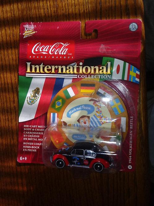 Johnny Lightning 1964 VW Beetle (Germany) Coca-Cola International Collection