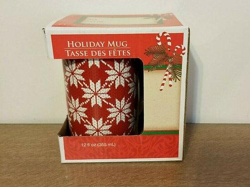 Snowflake Sweater Holiday Mug 12 fl ounces