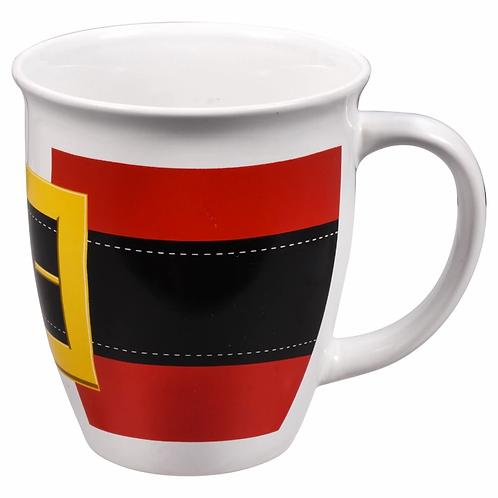 Christmas Holiday Santa Belt Coffee Mug