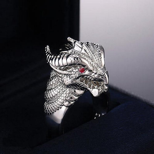 925 Sterling Silver Dragon Shape Ring