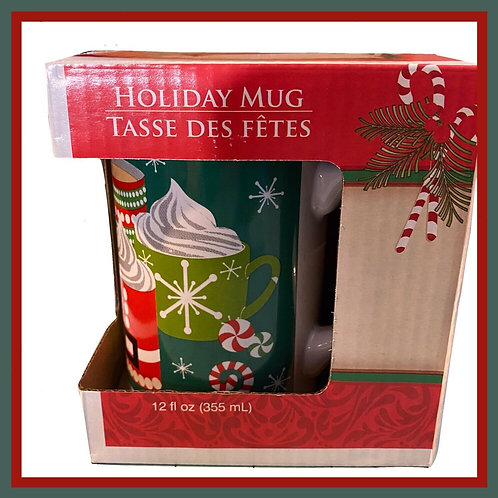 Holiday Mug -Coffee / Hot Cocoa- 12oz - Royal Norfolk - Original Box