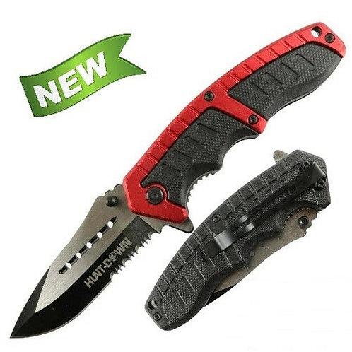 TAC FORCE SPRING ASSISTED RED FOLDING POCKET KNIFE New