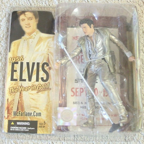 "Elvis ""The Year In Gold"" 1956 Mcfarlane Elvis Presley Figure SEALED NEW"