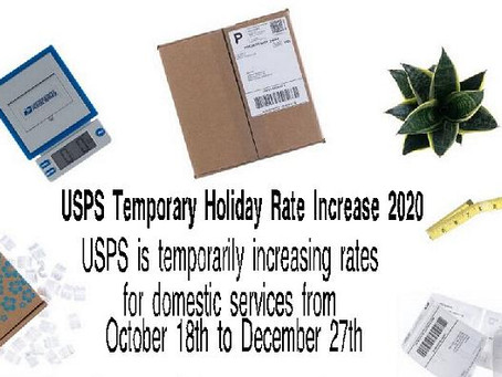 Postal Rates Going Up For Holidays!!