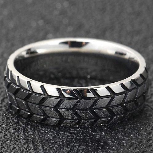 3D Titanium Rings Tire Mark Cool Ring For Men