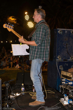 Playing the bass...