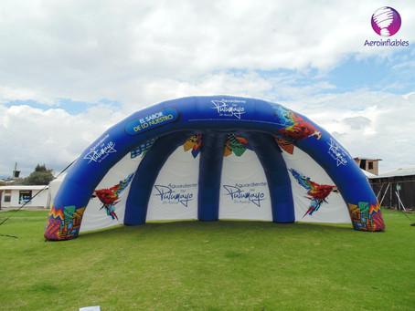 Carpas inflables, un lugar ideal  para eventos