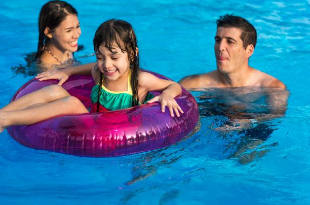 Flotadores inflables, piscina