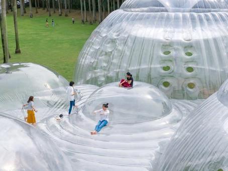 Air-Mountain, el increíble parque con plataformas inflables
