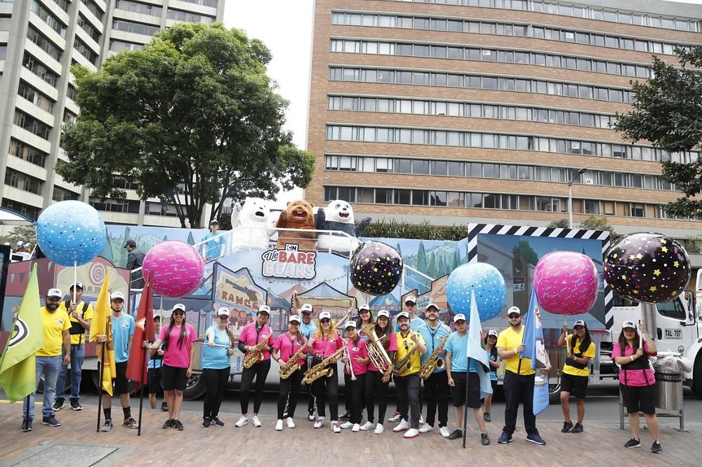 Balones inflables Caminata de la solidaridad