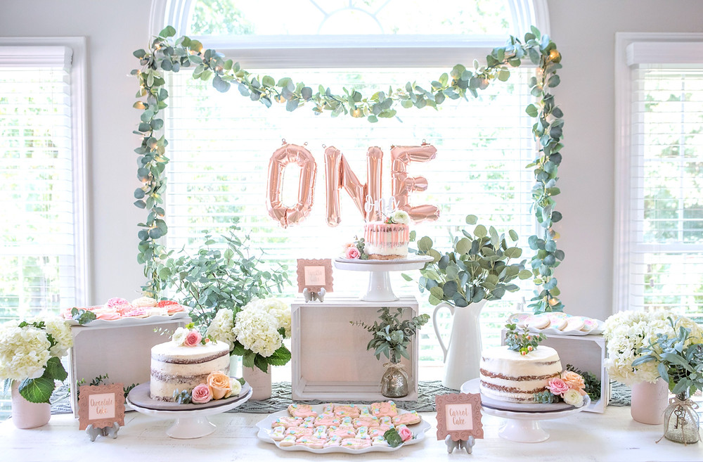 One-der-land Garden Party 1st Birthday Party - Ideas, floral boho decor and decoration ideas, food, cake, and desserts for girl's 1st birthday party