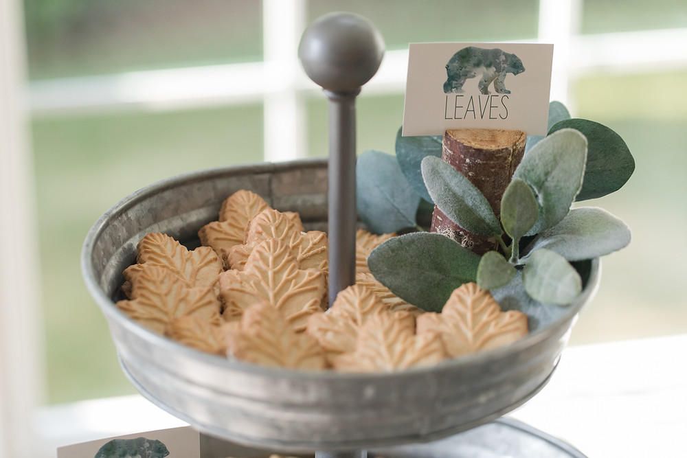 Maple Leaf Cookies Trader Joe's Party Food - One Wild Year - Boy's 1st Birthday Party - Ideas, inspiration, decor, party food and menu, kids activities and games, cake smash photo session, bear theme, wild one wilderness theme, decorations, cake, cookies, and more!