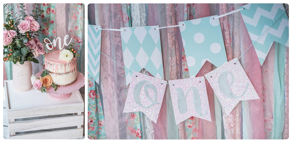 One-der-land Garden Party 1st Birthday Party - Ideas, floral boho decor and decoration ideas, food, cake, signs, monthly banner, flower cookies, cake smash photo session, and desserts for girl's 1st birthday party