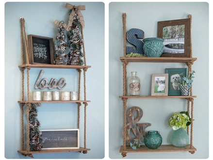 Decorate a Shelf / Ladder Shelf Like a Pro