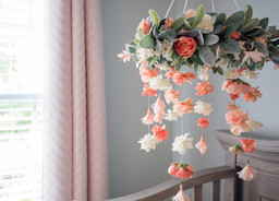 Boho Floral Baby Mobile Tutorial - Girl Nursery