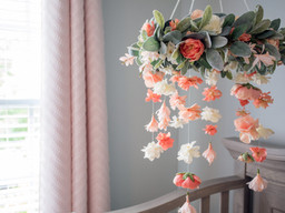 Boho Floral Baby Mobile Tutorial - Girl Nursery