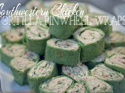 Southwestern Chicken Tortilla Pinwheel Wraps