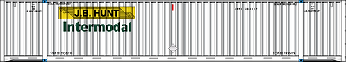 HO- J.B. JUNT INTERMODAL 53' Corrugated