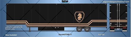 HO - Knight Rider 48' hauler Trailer