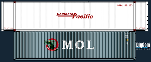 HO - MOL 40´SOUTHERN PACIFIC 48´Double Stacks